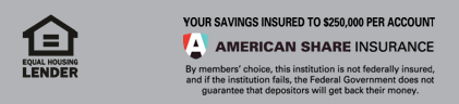 Equal Housing Lender & American Share Logo